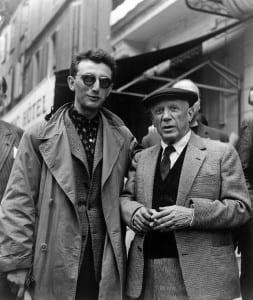 Lucien Clergue y Picasso. 1956. Cortesía ABC.